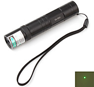 Flashlight Shaped Green Laser Pointer with Battery (5mw 532nm, Black, 1x16340)