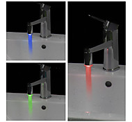 Cylindrical Water Powered Bathroom LED Faucet Light (Plastic, Chrome Finish)
