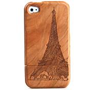 talla de madera, caja tipo torre patrón para el iPhone 4 / 4 s