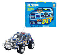 Polizeijeep 3d diy Puzzle