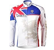 spakct новый дизайн мужской велосипедные майки длинный рукав 100% полиэстер (Олимпийские игры типа)