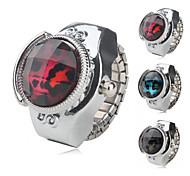 liga das mulheres relógio analógico com anel de grãos leopardo (cores sortidas)