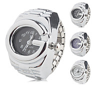 Unisex Analog Ring Watch (Silver)