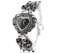 Damen Quartz Band Heart Shape Silber Marke-