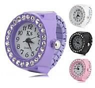 liga das mulheres relógio analógico com anel de diamante (cores sortidas)