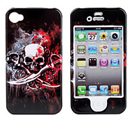 Protective Smooth Polycarbonate Front and Back Case for iPhone 4 and iPhone 4S (Blood)