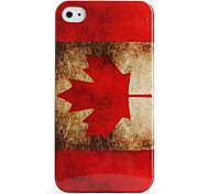 Etui de Protection Rétro en Polycarbonate pour iPhone 4/4S (Drapeau Canadien)