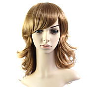Capless Medium Long 100% Heat Friendly Fiber Natural Look Hair Wig
