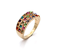 Lureme®Fashion Colorful Crystal Ring