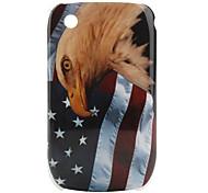nosotros la bandera y el águila patrón de caso protector para BlackBerry 8520 y 8530