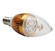 E14 3 W 3 High Power LED 300 LM Warm White C Decorative Candle Bulbs AC 220-240 V
