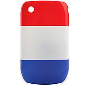 bandera de Francia patrón de estuche protector para blackberry 8520 y 8530