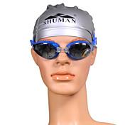 unisexes sm910 anti-brouillard lunettes de natation de placage