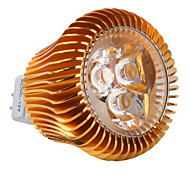 Focos MR16 GU5.3 3 W 3 LED de Alta Potencia 450 LM 2800K K Blanco Cálido DC 12 V