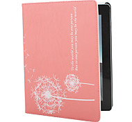 Dandelion Style PU Leather Case with Stand for iPad 2/3/4 (Pink)
