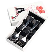 creux en forme de coeur ensemble cuillère fourchette