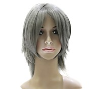 Capless Short Synthetic Gray Party Hair