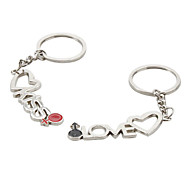 Kiss and Love Pattern Metal Keychain (1 Pair)