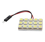 5050 SMD 15 LED 1.92w 285lm ampoule blanche éclairage de la voiture (12V DC)