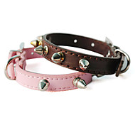 Dog Collar Red / Black / Brown / Pink / Gold PU Leather