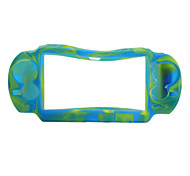 Camouflage Style Silicone Case for PS Vita (Blue and Yellow)