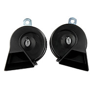 Auto Parts Car Electric Fanfare Horn Speaker ,Black (Pair/12V)