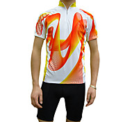 JAGGAD Cycling Tops / Jerseys Men's Breathable / Quick Dry Short Sleeve Bike Polyester / Coolmax Blue / Orange S / M / L / XL / XXL