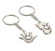 Palm and Feet Shaped Metal Keychain (1 Pair)