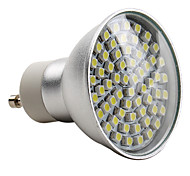 E14 / GU10 Spot LED MR16 60 SMD 3528 180 lm Blanc Naturel AC 100-240 V