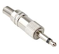 jl0029 3,5 mm 2-poste de metal de audio jack (20 piezas por paquete)