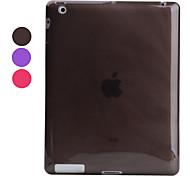 transparente protectora del caso del tpu de acoplamiento para el ipad 3 y el ipad 4 (colores surtidos)