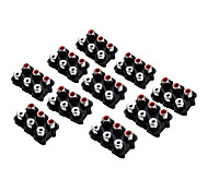 AV6-7 RCA Jack Socket for Electronics DIY Use (10 Pieces a Pack)