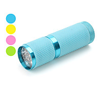 Portable 1-Mode 9-LED Flashlight (3xAAA, Assorted Colors)