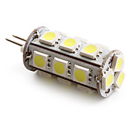Lampadina LED a pannocchia, luce bianca naturale G4 18x5050 SMD 2-2.5W 180-200LM 6000-6500K (12V)