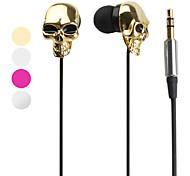 cuffie da 3,5 mm in orecchio all-in-1 stile cranio metallico per il iphone 6 / iphone 6 più (colori assortiti)