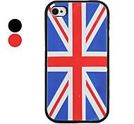 UK Flag Muster Stil Silikonhülle für das iPhone 4 und 4S (farbig sortiert)