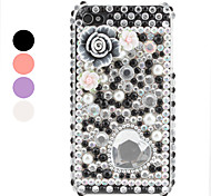 Floret And Heart-Shaped Pattern Case for iPhone 4 and 4S (Assorted Colors)