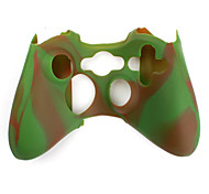 Protective Dual-Color Silicone Case for Xbox 360 Controller (Brown and Green)