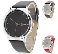 Women's Stylish PU Leather Analog Quartz Wrist Watch (Assorted Colors)