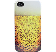 Beer Bubbles Pattern Hard Case for iPhone 4 and 4S (Yellow)