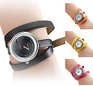 Damen Uhr mit Leder Schmuckarmband (Verschiedene Farben)