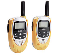 Mini 22-Channel Walkie Talkie (5km Range, 2-Pack, Yellow)