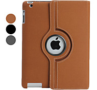 Simple Pattern PU Leather Case with Stand for iPad 2/3/4 (Assorted Colors)