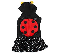 Ladybug Style Hoodie for Dogs (XS-XL, Black)