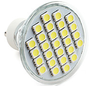 4W GU10 Spot LED MR16 27 SMD 5050 300 lm Blanc Naturel V