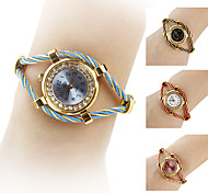 Dames Modieus horloge Kwarts Legering Band Glitter / Bangle armband Zwart / Wit / Blauw / Rood / Roze / Paars Merk-