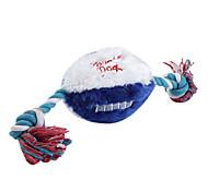 Rugby a forma di cigolio giocattolo in stile con la corda (30 x 9cm)