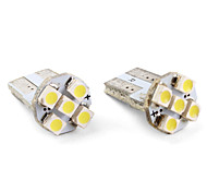 T10 5*1210 SMD White LED Car Signal Lights (2-Pack, DC 12V)