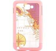 Carcasa Dura con Diseño de Mapa Antiguo para el Samsung Galaxy Note I9220 - Colores Surtidos