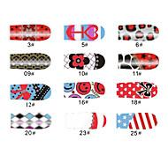schöne Muster Stil 12 Tipps Nail Art Sticker